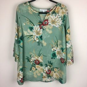 Violet and Claire Floral Blouse Top XL